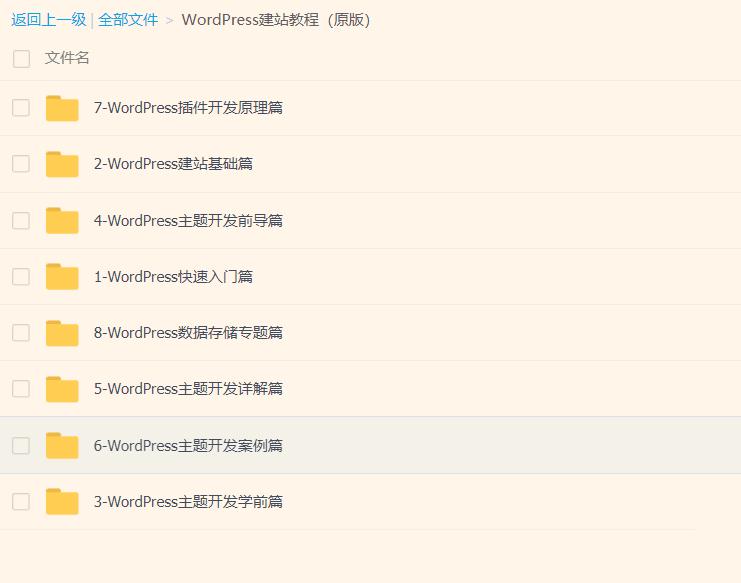 wordpress主题开发2019核心技术课程大全-顺便边学变赚钱
